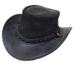 Modestone Unisex BC Hat Drover Australian Leather Cowboy Hat Black