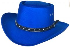 Modestone Kids Gambler Faux Felt Cowboy Hat Blue ''Sizes For Small Heads''