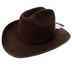 Modestone Kids ''Felt Feel'' Cowboy Hat Brown ''Sizes For Small Heads''