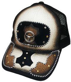 Modestone Western Snapback Ball Cap Metal Bull Head Longhorn