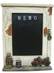 Modestone 11`` X 14`` Decorative Chalk Memo Board Gas Station and Motorcycle
