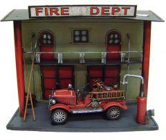"Modestone 15 1/2"" X 12"" X 7"" Decorative Metal Wood Fire Department Truck"