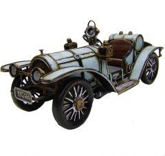 """Modestone 13"""" X 4 1/2"""" X 6"""" Decorative Replica Metal Classic Car Blue"""