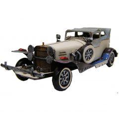 """Modestone 14"""" X 5"""" X 5"""" Classic Roadster Antiqued Decorative Replica Metal Beige"""