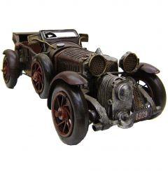 """Modestone 14 1/2"""" Classic Roadster Antiqued Decorative Replica Metal Brown"""