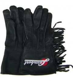 Modestone Men's Lambert Buckskin Motorcycle Riding Gloves Fringed Embroidered L