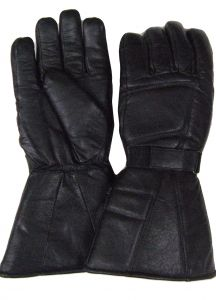 Modestone Men's Snowmobile Gloves Gauntlet Genuine Cowhide Modestone M Black