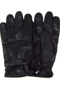Modestone Men's Winter Gloves Genuine Leather Lined 3M Thinsulate XL Black