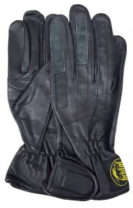 Modestone Bristol Women's Summer Motorcycle Glove Leather Black