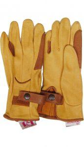 Modestone Men's Watson Genuine Deerskin Gloves Double Padded 8 Tan