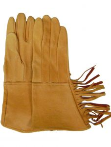 Modestone Men's Watson Stampeder Genuine Deerskin Gloves 7 Tan