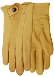 Modestone Men's Watson Stagline Genuine Deerskin Gloves Tan 9