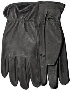 Modestone Men's Watson Range Rider Genuine Deerskin Gloves Black S