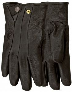 Modestone Men's Watson Black Stag Genuine Deerskin Gloves Black 10