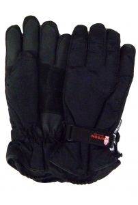 Modestone Men's Watson Sno Job Snowmobile Gloves Genuine Cowhide XL Black
