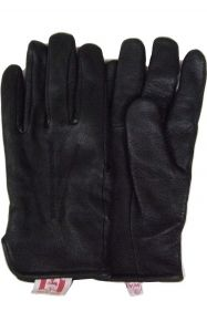 Modestone Men's Watson Genuine Deerskin Gloves Driver Style 9 Black
