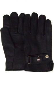 Modestone Men's Watson Genuine Deerskin Gloves Black Lined 10