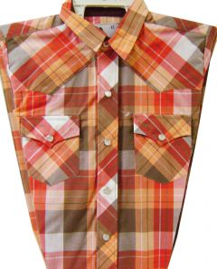 Modestone Boy`s Checked Long Sleeve Shirt Orange