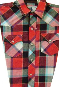 Modestone Boy`s Checked Long Sleeve Shirt Red