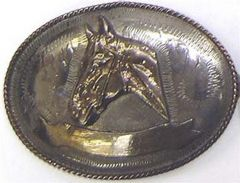 Modestone Men's Horsehead Western Style Belt Buckle O/S Gold