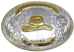 Modestone Men's Trophy Belt Buckle Filigree Nickel Silver O/S Silver
