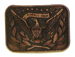 Modestone Men's E Pluribus Unum USA Emblem Belt Buckle O/S Bronze Color