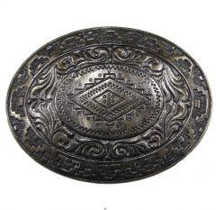 Modestone Men's Native Antique Western Style Belt Buckle O/S Silver