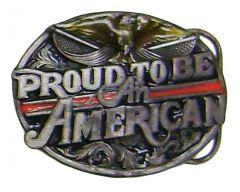 Modestone Men's Proud To Be An American Belt Buckle O/S Silver