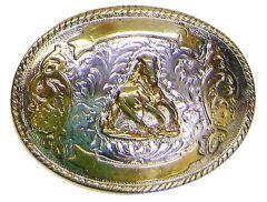 Modestone Men's Trophy Belt Buckle Galloping Horse Filigree O/S Silver