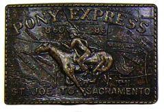 Modestone Men's Pony Express St Joe To Sacramento Belt Buckle O/S Bronze Color