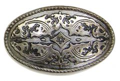Modestone Men's Filigree Pattern Western Style Belt Buckle O/S Silver