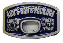 Modestone Men's Lou's Bar & Package Liquor In The Front Poker In The Rear Buckle