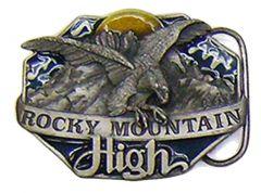 Modestone Men's Rocky Mountain High Eagle Belt Buckle O/S Silver