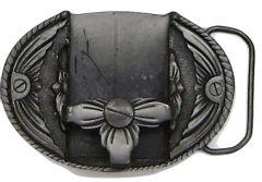 Modestone Men's Pewter Zippo Lighter Holder Belt Buckle O/S Silver