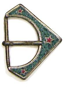 Modestone Men's Granite-Like Red Stars Western Style Belt Buckle O/S Silver