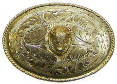 Modestone Men's Bull Head Western Style Belt Buckle O/S Silver