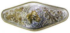 Modestone Men's Trophy Belt Buckle Horse Head Nickel Silver O/S Silver