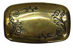 Modestone Men's Filigree Belt Buckle O/S Gold