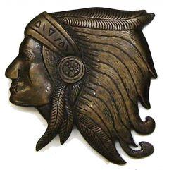 Modestone Men's Indian Head Belt Buckle O/S Brass Color
