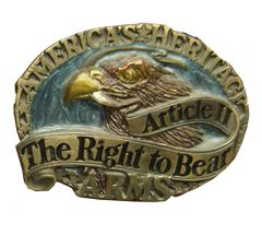 Modestone Men's America's Heritage The Right To Bear Arms Belt Buckle O/S