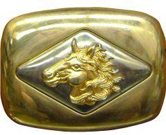 Modestone Men's Horse Head Western Style Belt Buckle O/S Golden