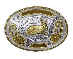 Modestone Nickel Silver Hare Buckle O/S Gold Silver