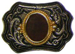 Modestone Leather Center Piece Buckle O/S Gold Silver