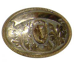 Modestone Nickel Silver Bull Head Buckle O/S Gold