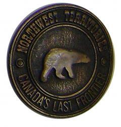Modestone Northwest Territories Canada'S Last Frontier Nwt Polar Bear Buckle