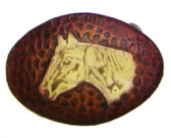 Modestone Leather Horse Head Buckle O/S