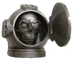 Modestone Metal Alloy Skull Eyepatch Diving Helmet Front Piece Opens Buckle