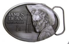 Modestone Metal Alloy James Dean 1931-1955 Limited Edition Buckle O/S Silver