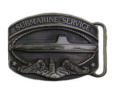Modestone Metal Alloy Submarine Service Buckle O/S Silver