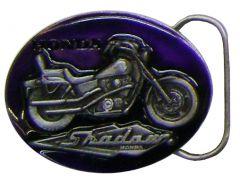 Modestone Metal Alloy Honda Shadow 1100 Purple Buckle O/S Silver